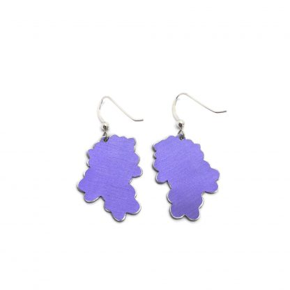 Forget me not earrings back view