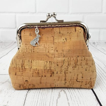 natural cork leather purse