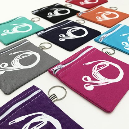 different coloured earphone pouches