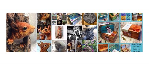 Some examples of work by sculptor KirstyArmstrong