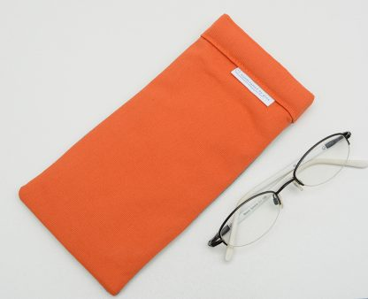 Reverse of orange glasses case