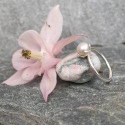 thistledown wishes sterling silver and pearl ring