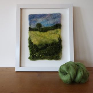 Oil Seed Rape Needle Felt Painting by Louise Hancox Textile Artist