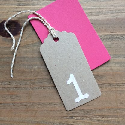 birthday number gift tags 1