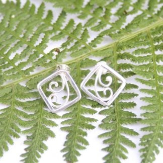 thistledown wishes sterling silver fern earrings