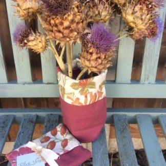 Fabric Vase with Floral lining