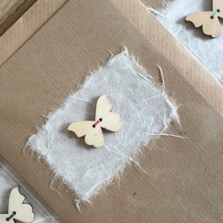 wooden butterfly card with hand stitching