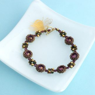 bronze and purple crystal bracelet
