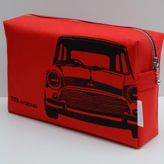 red Washbag with classic mini illustration