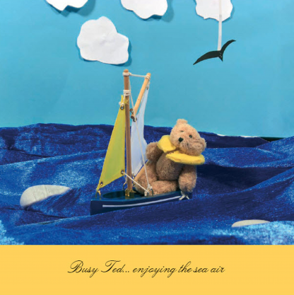 Busy Ted card - sailing