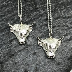 highland cow necklace