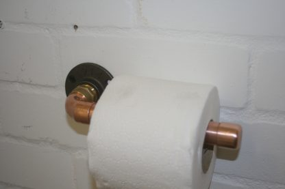 toilet roll holder in copper pipe for the British craft house