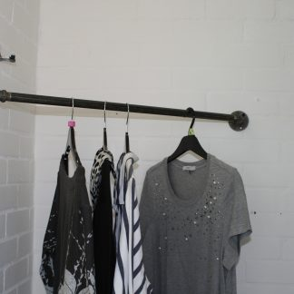 industrial pipe wardrobe rail for The British craft house