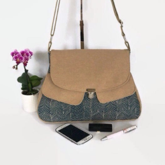 Denim Blue Canvas Cross Body Bag
