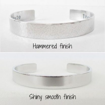 hidden message bracelet finish