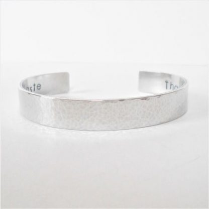 personalised hidden message cuff bracelet