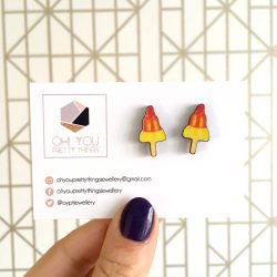 Ice lolly rocket stud earrings