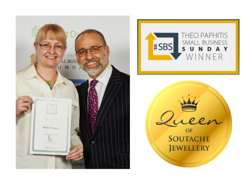 Recieving my certificate from Theo Paphitis