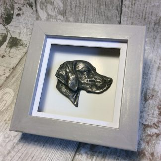 Weimaraner 3D shadow box frame