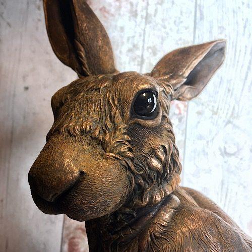 Iron Harriet Hare Sculpture