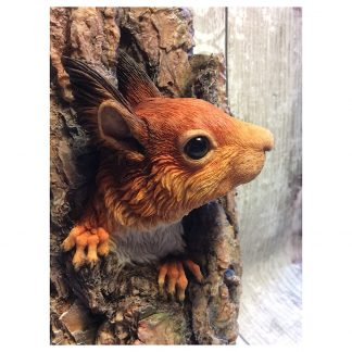 Red squirrel wall sculpture