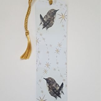 Jenny Wren bookmark with Christmas Gold stars