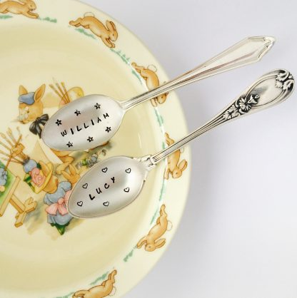 personalised new baby spoon