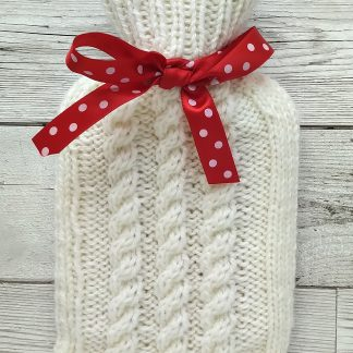 mini hot water bottle cover in cream