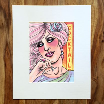 The Kinks Inspired 'Lola' limited edition giclee art print by Mel Langton Art