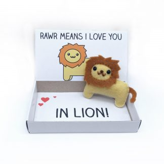 Cute lion keepsake gift