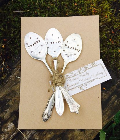 set of personalised garden markers
