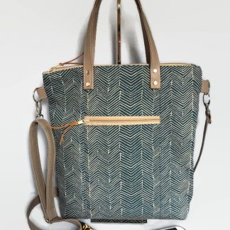 Denim Blue Canvas Tote Bag