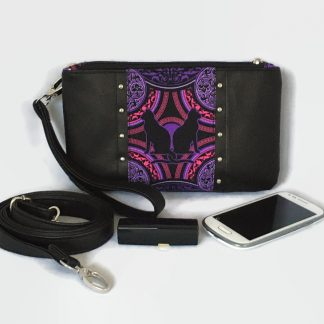 Black Cat Clutch Bag, Cross Body Bag