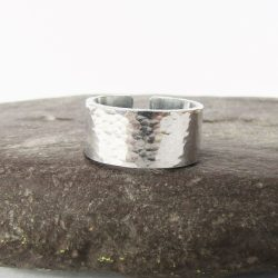 personalised hidden message cuff ring