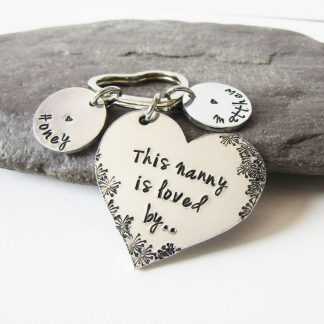 personalised this nanny loved by keyring