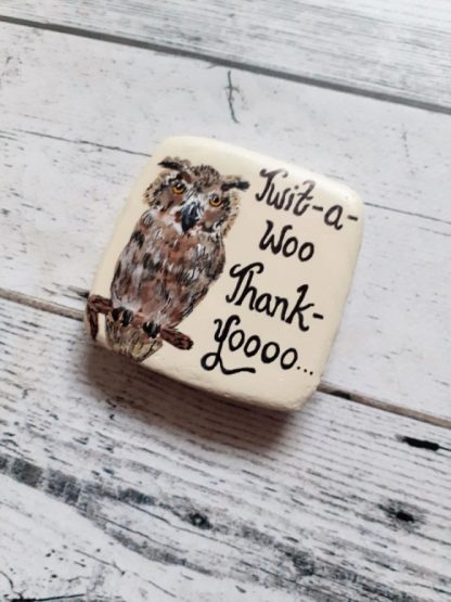 owl thank you magnet