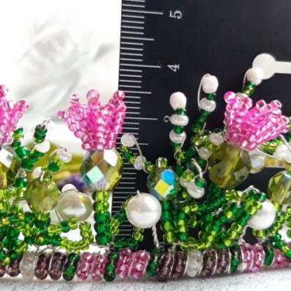 measurements of Scottish themed tiara