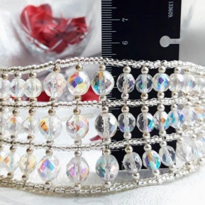 dimensions of silver and crystal tiara