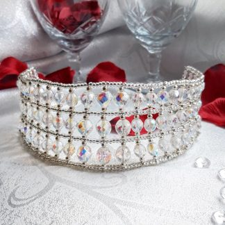 silver and crystal tiara