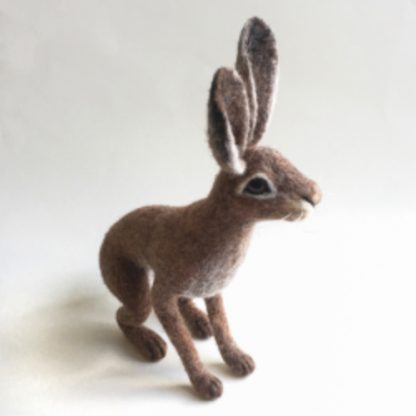 needle felted hare sculpture