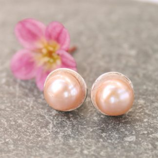 thistledown wishes Pearl stud earrings
