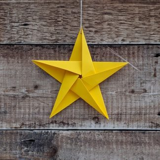 big recycled star yellow
