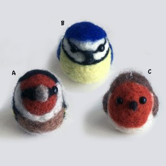 needle felted bird bag charms