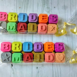 bridesmaid crayon wedding favours for kids