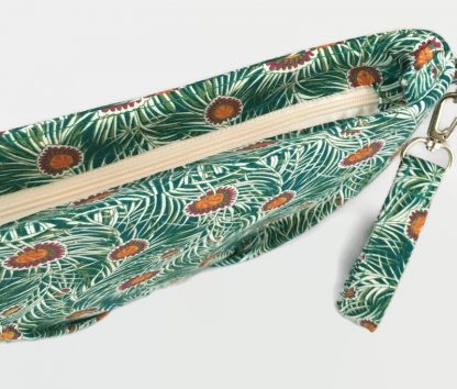 Green Peacock Feather Clutch Bag
