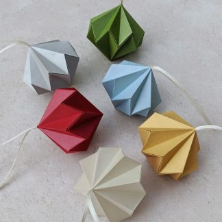 origami paper diamonds group of six