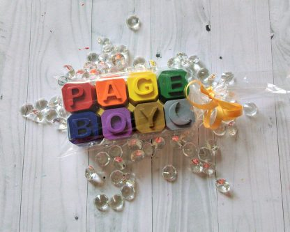 Page Boy crayon wedding favours for kids