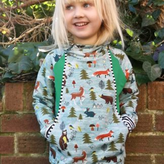 Unisex kids sweatshirt with cowl