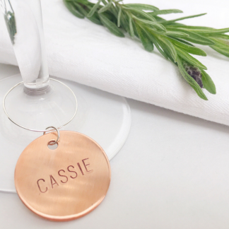 Copper wine charm