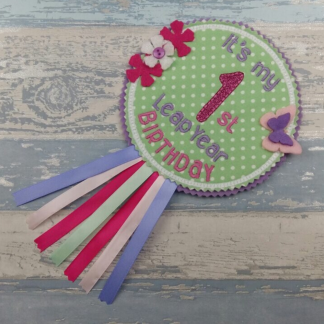 Leap Year Birthday Badge - A Heartly Craft
